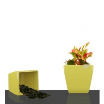 Yellow Square Self Watering Planter Set of 2 Pcs