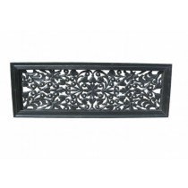30 x 12 Black Finish Floral Wall Decor
