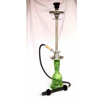 32'' Green Designer Glass & Steel Hookah