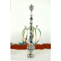 33'' Decorative Brass & Wooden Darmiani Hookah