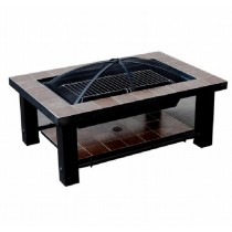36 Inch Rectangular Fire Pit With Steel Fire Bowl