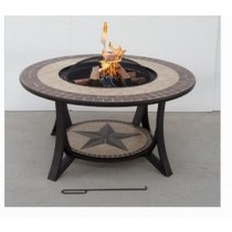 36 Inch Table Fire Pit With Tile Table Top
