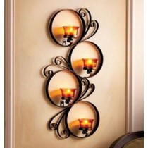 36 Inches Wall Circle Candle Holder