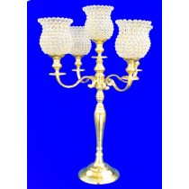 38'' Five Lights Candle Stand With Crystal Lamps