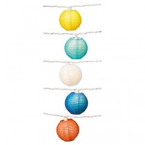 3 Inch Paper Multi Color Lanterns String Light Set