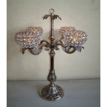 4 Arm Crystal Votive Candelabras