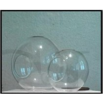 4'' Round Close Ball Borosil Glass Hanging Vase
