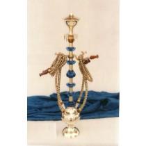 4 Decorative Hose Brass & Acrylic Hookah