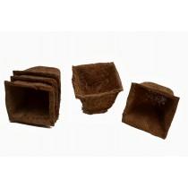 4'' Biodegradable Square Coir Pots(Set Of 5)