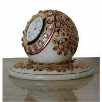 4 Inches Marble Round Clock