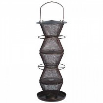 5-Tier Bronze Finish Hanging Bird Feeder