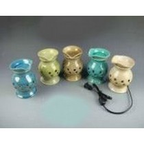 5 Colored Decorative Ceramic Electric Wax Warmer With line(Set Of 5)