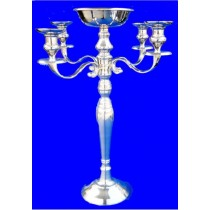 5 Lights Aluminium Candle Stand, 30 Inches