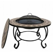76cm Round Fire Pit Table With 51cm Round Steel Bowl