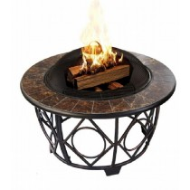 89cm Fire Pit Table with Tile Table Top