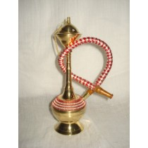 8'' Antique Style Orange Work Brass Hookah