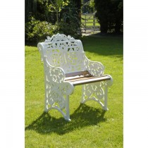 Aluminium Powder Coated Single Seat Garden Bench