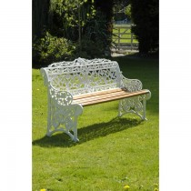 Aluminium Powder Coated Three Seater Garden Bench