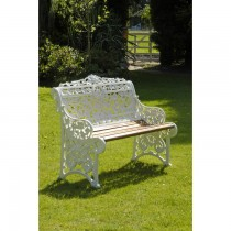 Aluminium Powder Coated Two Seater Garden Bench