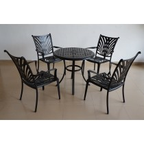 Aluminum Arm Style Chair & Table Set