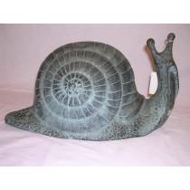 Aluminum Black Snail Garden Ornament