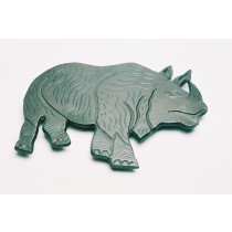 Aluminum Rhino For Wall Decor
