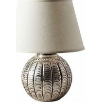 Aluminum Shiny Polish Round Table Lamp
