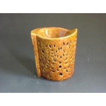 Amber Ceramic Craving Motifs Oil Burner