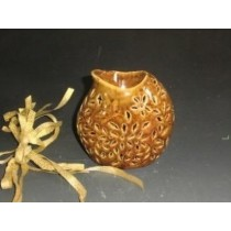 Amber Ceramic Teapot Shape Oil Burner