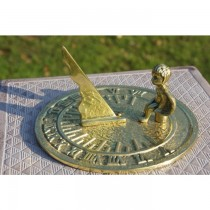 Angel Seated Solid Brass Polished Garden Sundial