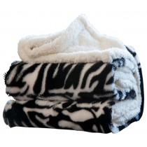 Animal Print Contemporary Style Polyester Throw