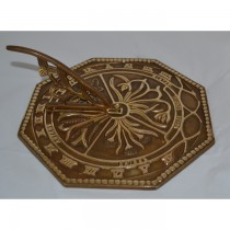 Antique Brass Finish Flower Design Garden Sundial