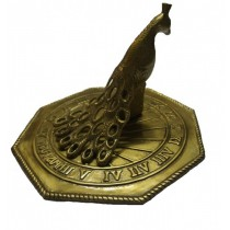 Antique Brass Finish Peacock Garden Sundial