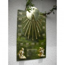 Antique Brass Finish Wall Mounted Sundial