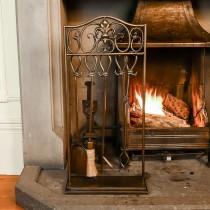 Antique Brass Fireside Companion Set