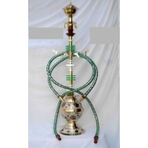 Antique Brass Plating & Acrylic 2 Hose Hookah