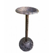 Antique Bronze Finish Birdbath Height-32 Inch