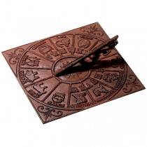Antique Brown Cast Iron Sundial
