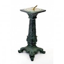 Antique Cast Aluminium Garden Sundial