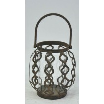 Antique Copper Metal Hanging Candle Holder