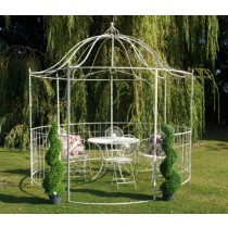 Antique Cream Finish Durable Metal Gazebo