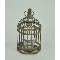 Antique Decorative Metal Bird Cage Candle Holder