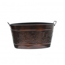 Antique Embossed Vintage Party Tub With Two Handles