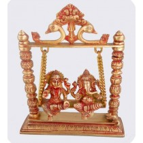 Antique Finish Laxmi Ganesh Swing, 17 Inches