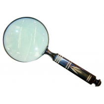 Antique Finish Magnifying Glass With Designer Handle , 6 Inches