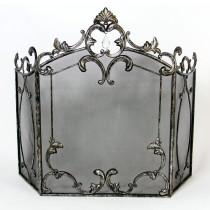 Antique Finish Metal Folding Fire Screen