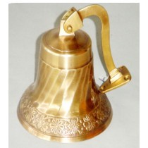 Antique Finish Wall Mounted Bell, 7 Inches