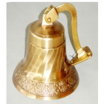 Antique Finish Hanging Bell, 4 Inches