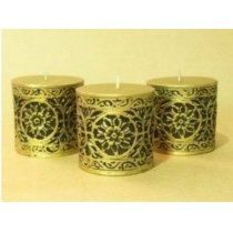 Antique Gold  Pillar candle