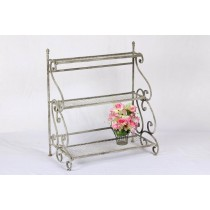 Antique Gray 3 Tiered Metal Stand